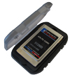California PC FLASH FPCI-CASE Ruggedized PC Card Case for Type I and Type II PCMCIA / PC Cards - BLACK